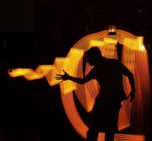 Il volo della mosca - Lightpainting video